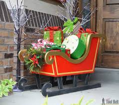 Christmas Decor Diy Ideas With Wood Diy Santa Sleigh Her Tool Belt