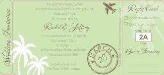 boarding pass wedding invitation template wedding invitations boarding pass alesi info