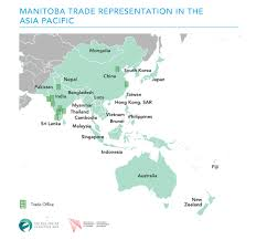 Manitoba Canada Map by Manitoba The Asia Factor