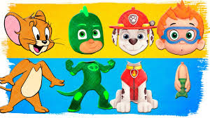 wrong heads pj masks paw patrol bubble guppies tom and jerry