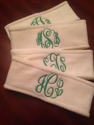 monogram headband fleece headband picmia