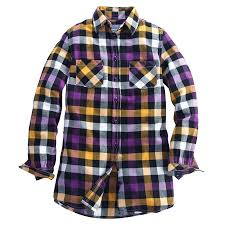 Black And White Plaid Shirt Womens Fall Lsu Tailgating Cecelia Plaid Flannel Shirt Women Yellow