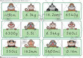 pet measurement dominoes premium printable classroom