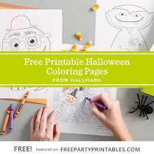 halloween coloring pages u2013 free party printables
