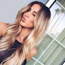 dark roots blonde hair synthetic hair wigs wavy middle part dark roots ombre hair capless