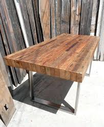 Wood Table With Metal Legs Rustic Wood Dining Table Set Townsend Wooden And Chairs With Metal
