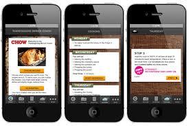 recipe talk thanksgiving mobile apps