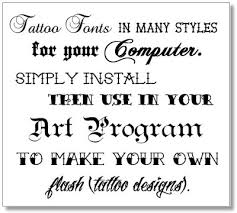 ideal tattoo art tattoo fonts