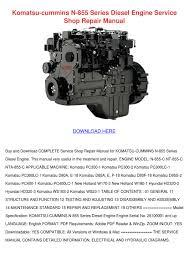 komatsu cummins n 855 series diesel engine se by maryam ragin issuu