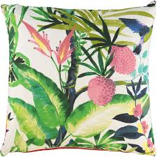 Homesense Cushions Multicoloured Tropical Print Cushion 60x60cm Living Room Home