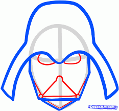 draw darth vader easy step step star wars characters