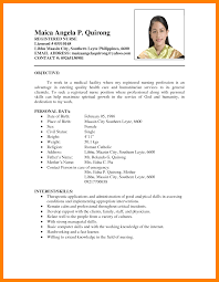 Sample Resume In The Philippines by Sample Resume For Filipino Nurses Free Resume Example And