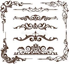 vector vintage ornamental frames and corners stock vector image