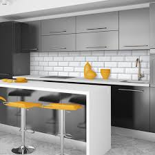 kitchen stunning black and white kitchen tile decor ideas with