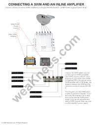 direct wiring diagram weaknees swm and directv inline lifier