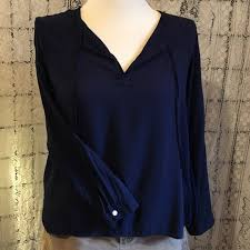 navy blue blouse 88 gap tops gap navy blue peasant blouse from s
