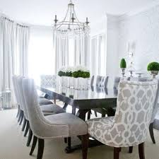 Best Dining Room Chairs Grey Ideas House Design Interior - Grey fabric dining room chairs