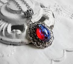 red opal necklace images Dragon 39 s breath opal necklace fire opal necklace fantasy etsy jpg
