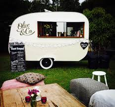 vintage caravan coffee bar hire gold coast wedding catering