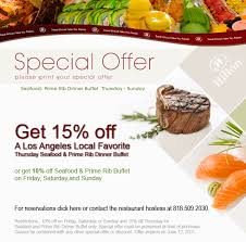 Seafood Buffet In Los Angeles by Visit Cafe Sierra This Weekend And Get Up To 15 Off The Seafood