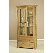 toscane american oak glass display cabinet