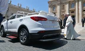 mercedes santa fe pope swaps his bulletproof mercedes for a hyundai