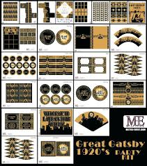 Gatsby Invitations Construction Party Favors 1920s Party Gatsby Invitations Art Deco