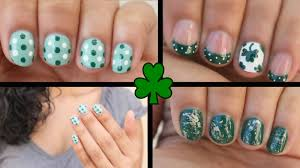 st patrick u0027s day nail art with video tutorial