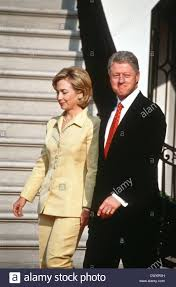 us president bill clinton with first lady hillary rodham clinton