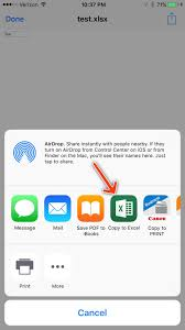 How To Share An Excel Spreadsheet When I Receive Emails On My Iphone With An Excel File Attached I