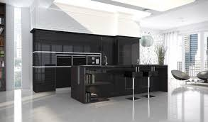 black lacquer kitchen cabinets traditional kitchen decoration