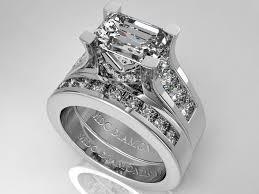 emerald cut wedding set engagement ring modern horizontal emerald cut diamond engagement