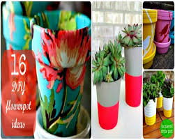 How To Decorate A Pot At Home 16 Creative Diy Flowerpot Ideas