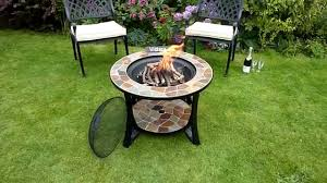 slate fire pit table madeira slate mosaic fire pit table www gardenitems co uk youtube