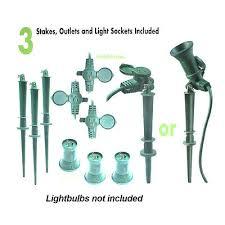 Light Socket Extension Yard Master Outdoor 3 Outlet Cord Floodlight Light Socket Ground