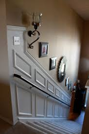 Wainscoting On Stairs Ideas How To Add Moulding Wainscoting To A Stairway Ideas For Home