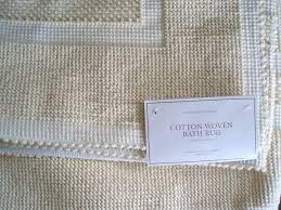 Restoration Hardware Bath Mats Contour Bath Rug Cotton Restoration Hardware Woven Bath Rug White