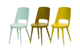 chaises jaunes chaise baumann jaune pop rien à cirer