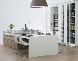 ilot cuisine table a manger design interieur meubles cuisine bois blanc îlot table manger