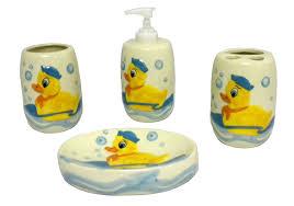 Kids Bathroom Collections Rubber Ducky Duck Bathroom Accessories Set Children Bath Decor