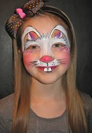 bunny face paint coloring page