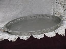 pewter serving platter vintage pewter serving or tray w handles ornate gallery