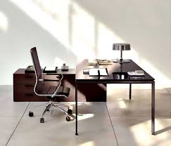 office slim wooden working desk for modern home office design