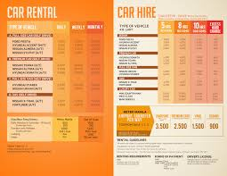 rental price cheap manila car rental rates philippines car hire price list