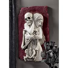 halloween skull with candle background strange lovers beauty u0026 bony skeleton bas relief wall sculpture
