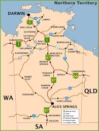 territories of australia map northern territory road map