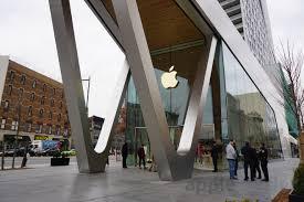 Home Design Apple Store by First Look Apple U0027s Downtown Brooklyn Store Has Custom Floors