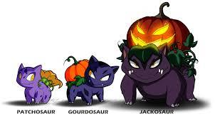 halloween pumpkin animation fan pokemon the pumpkin u0027saurs by molochtdl on deviantart