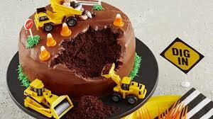 construction cake toppers birthday cake for construction image inspiration of cake and