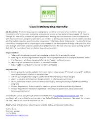 Merchandiser Job Description Resume Best Photos Of Marketing Intern Job Description Samples